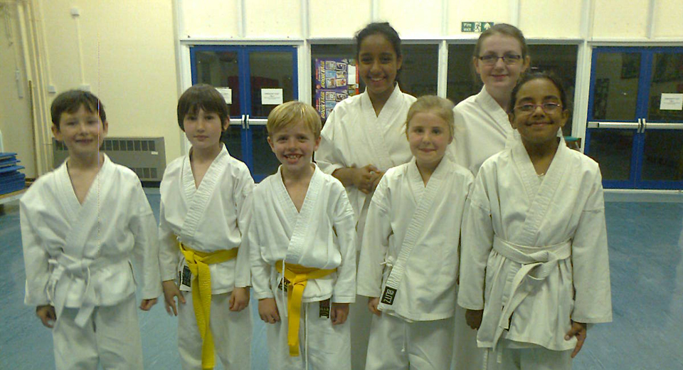 Brightlingsea Grading–8th Kyus Katie Nicholson, Shannon Boyce, 7th Kyus Harry McTiernan, Nazia Ahmed and Samiha Ahmed, 6th Kyus Harvey Satterly, Zach Matthews (and Leo Matthews–not photographed).