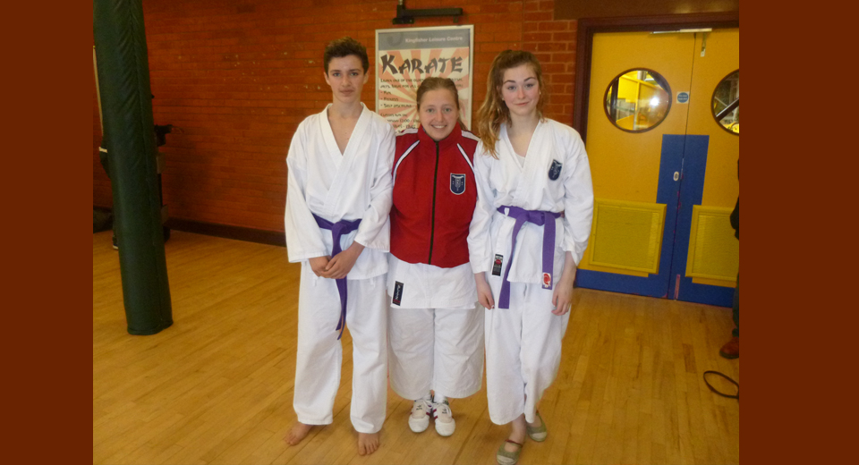Brightlingsea Students Millie Poynter and Harry Barber 3rd Kyu following the Colchester Grading