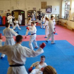WKU Squad training sessions at the Bristol Karate Club Dojo, January 2015